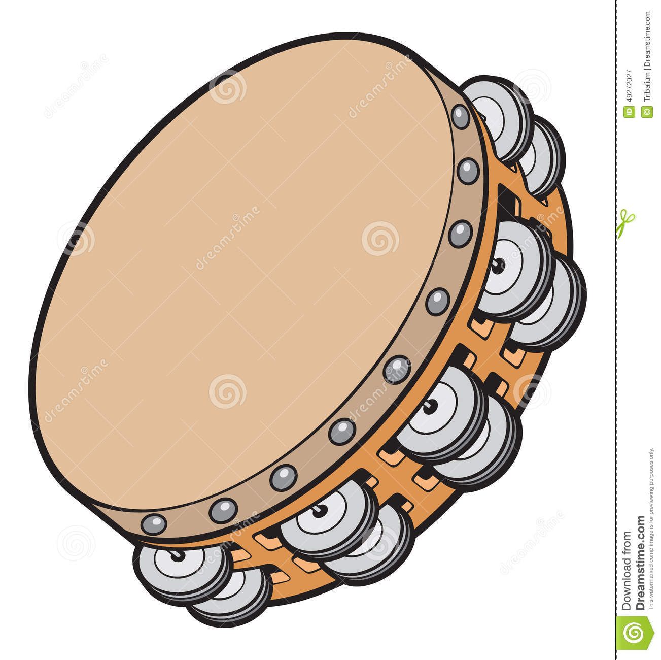 Tambourine Stock Illustrations.