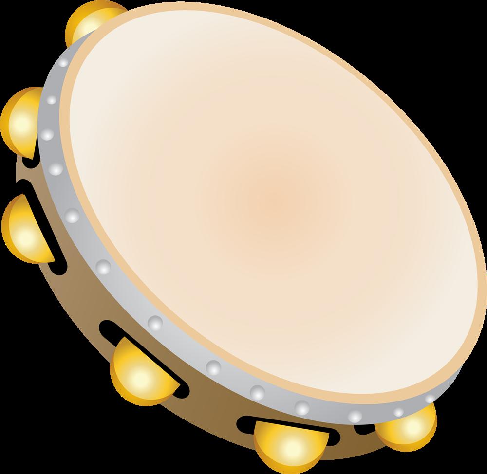 Free Tambourine Clip Art.