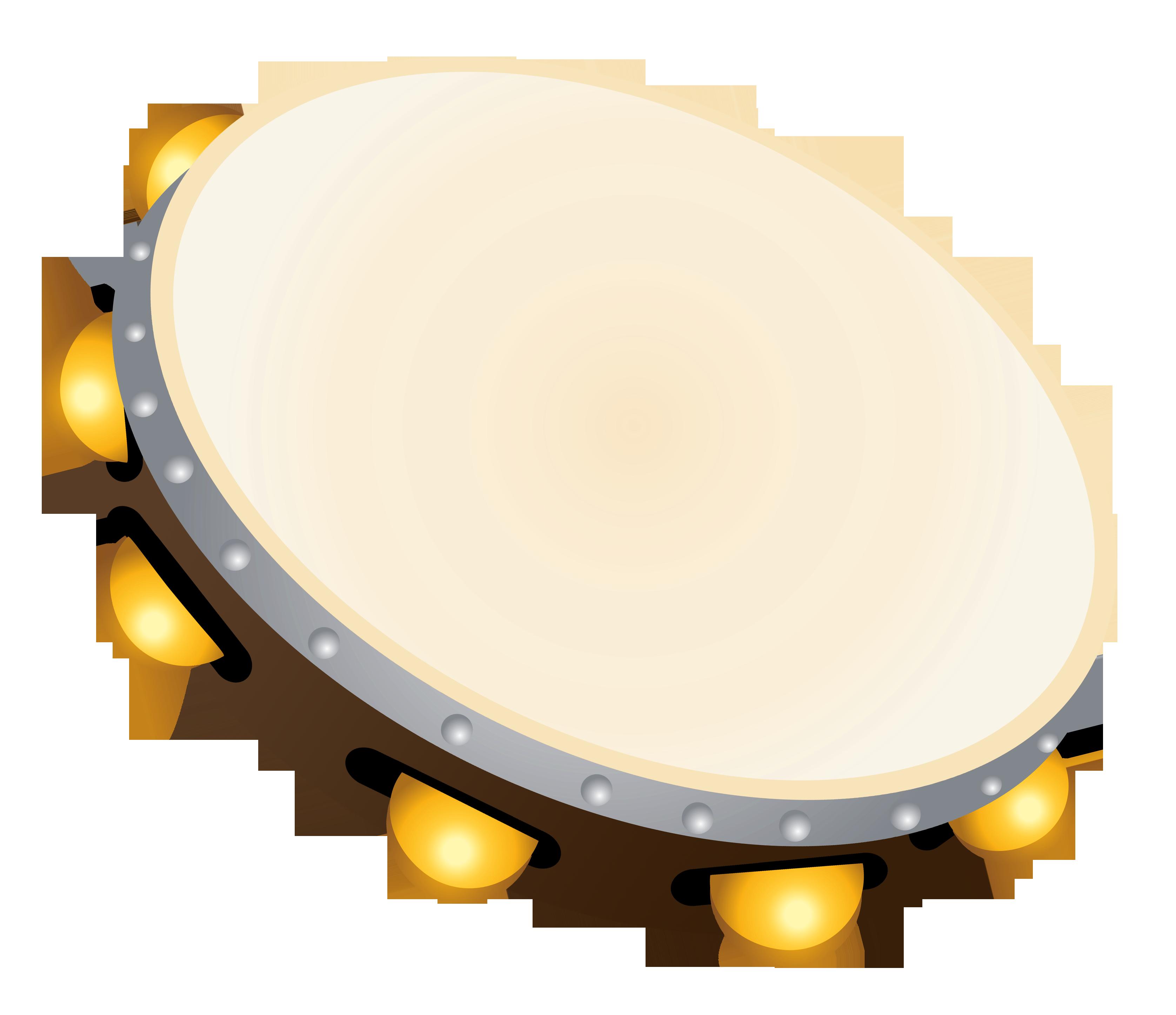 Transparent Tambourine PNG Clipart.