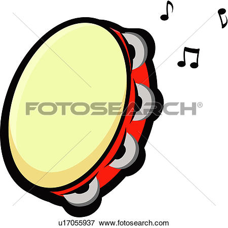 Clip Art of , instrument, musical, tambourine, u21937107.