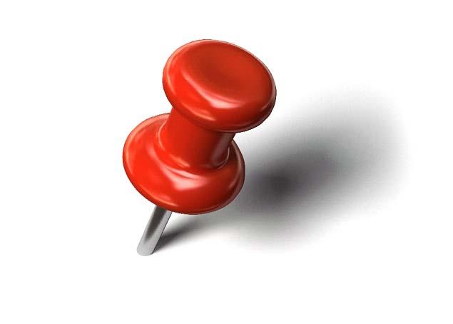Thumb tack clip art.