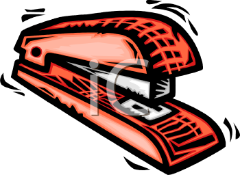 Royalty Free Clipart Image: Red Plastic Stapler.