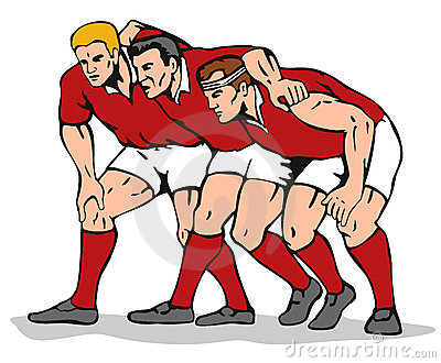 Rugby tackle clipart.