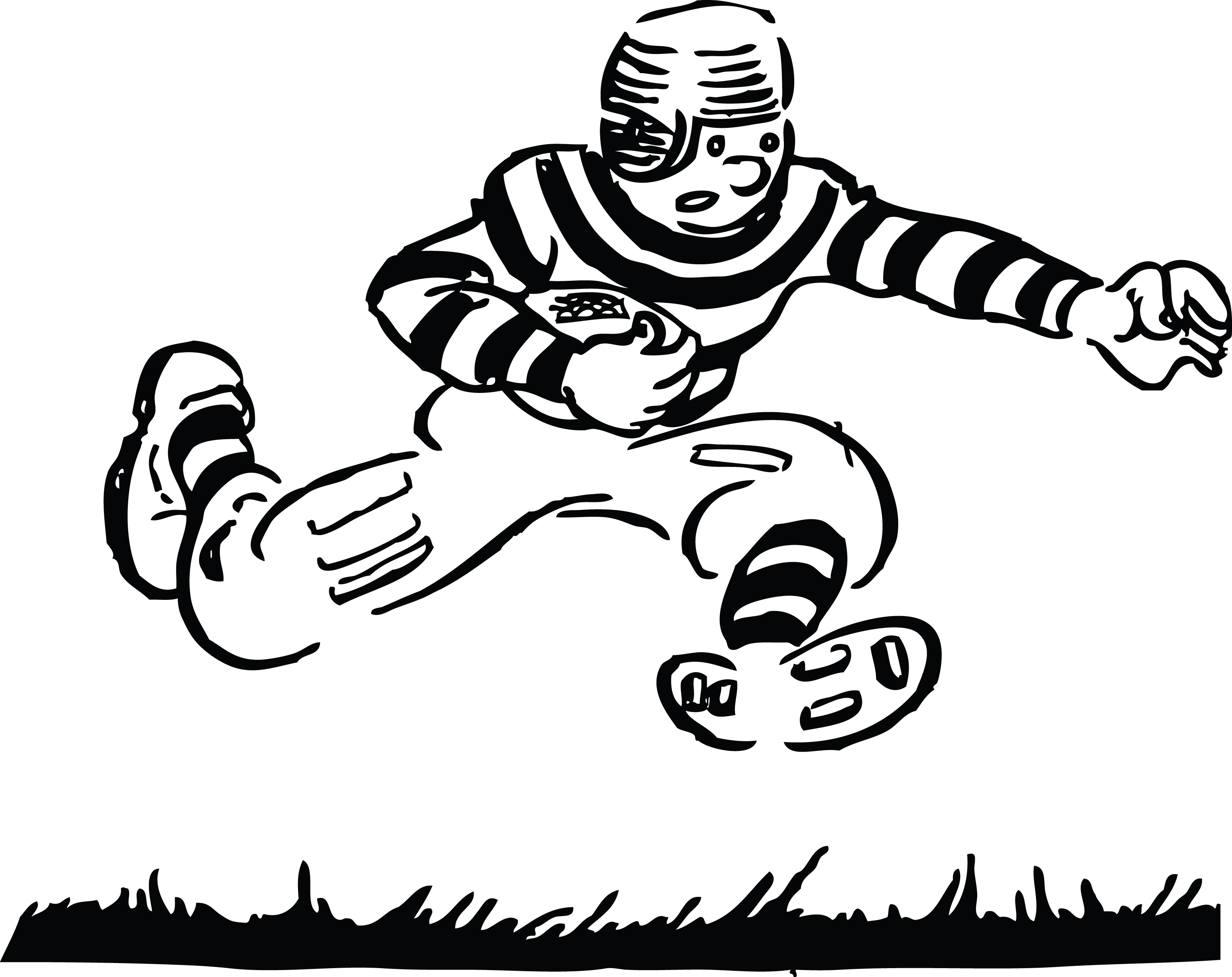 Tackle football school clipart.