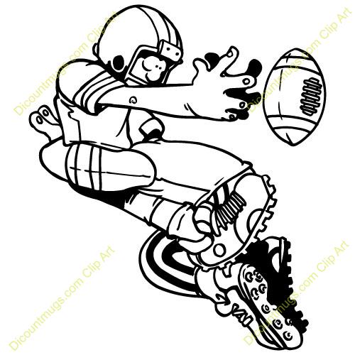 Football Player Tackling Clipart.