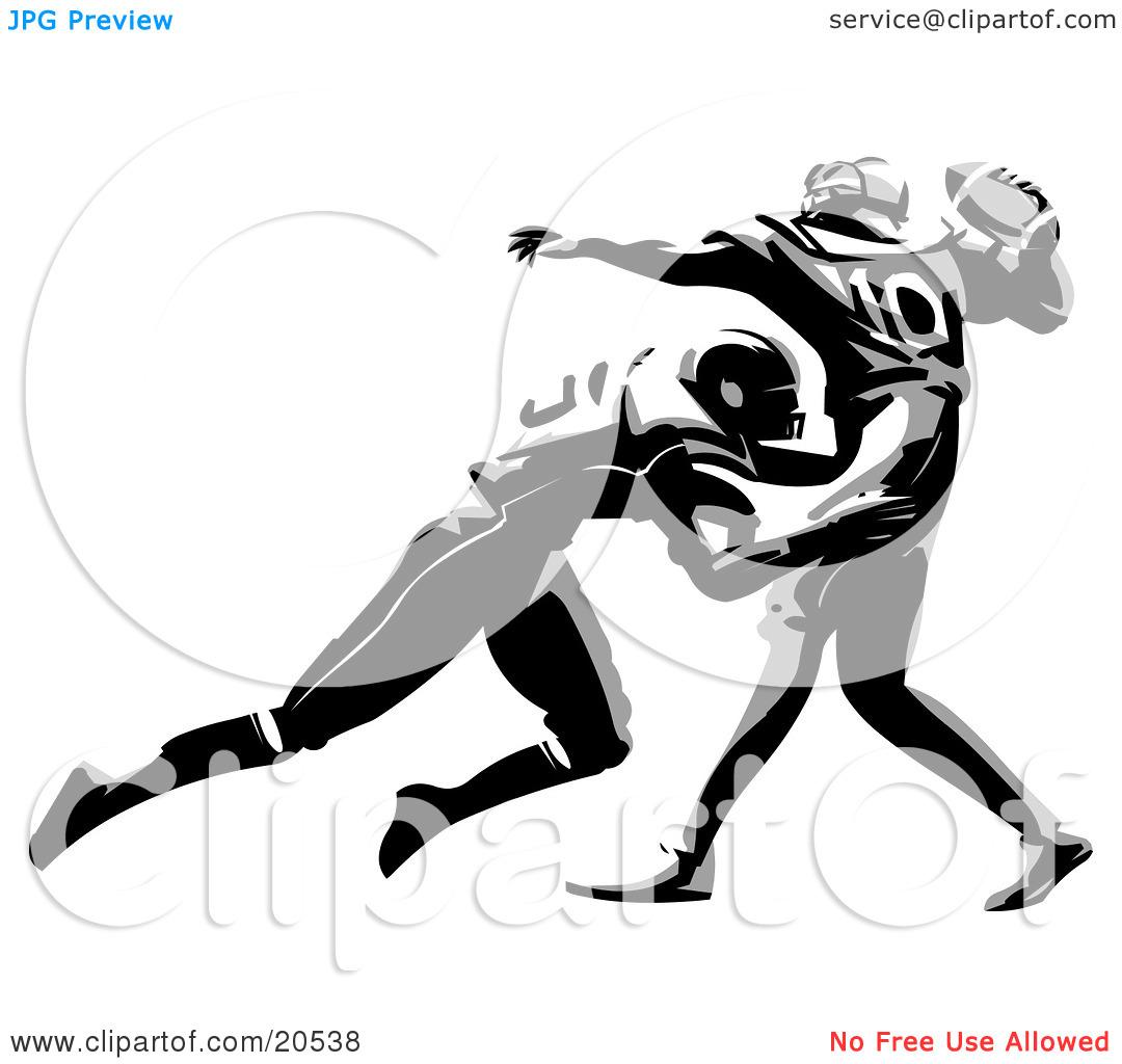 Football tackle clipart.