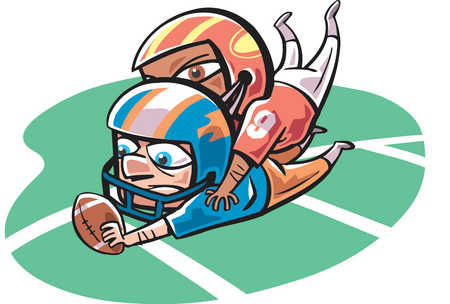 Showing post & media for Cartoon football player tackle.