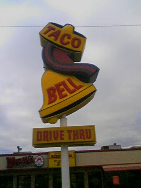 Old Taco Bell Sign.