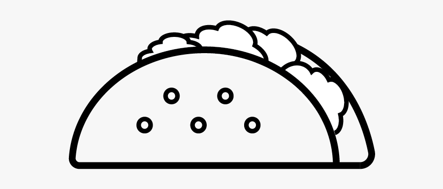Black And White Free Taco Clipart , Free Transparent Clipart.