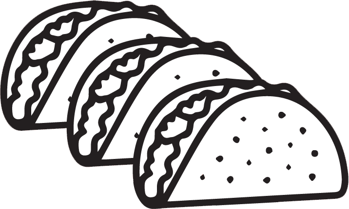 Taco Clipart Black And White.