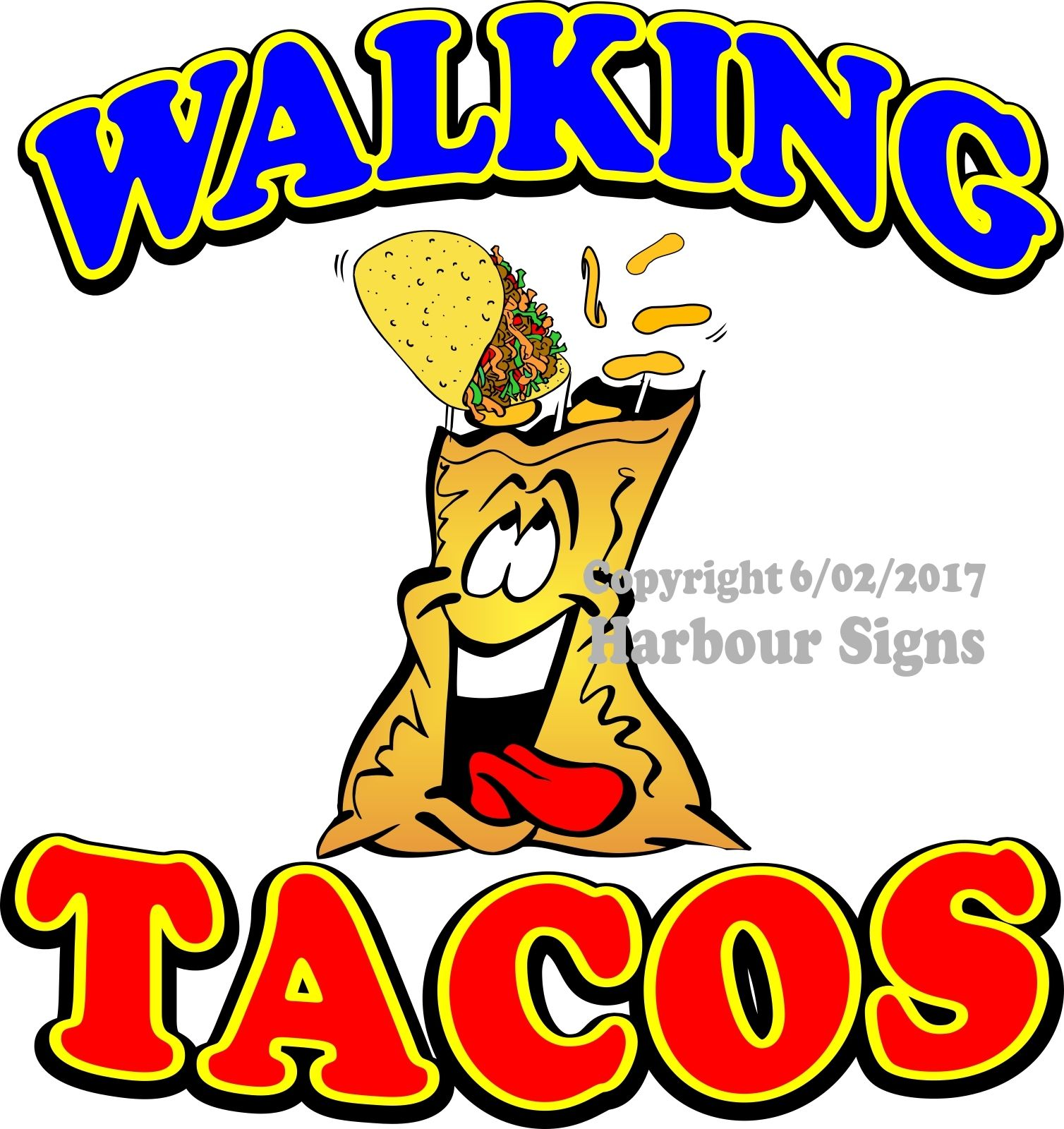 Walking Taco Clipart.