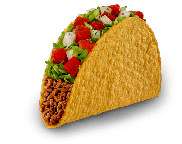 Fresh Meat Taco transparent PNG.