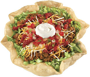 Mexican taco salad clipart.