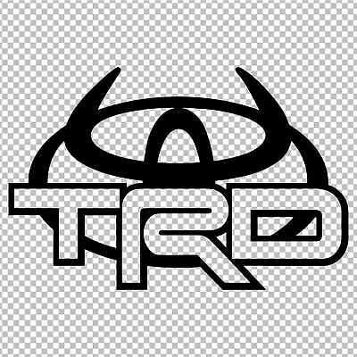 TOYOTA TRD HORNS LOGO DECAL VINYL STICKER 4RUNNER TUNDRA LAND CRUISER  TACOMA.