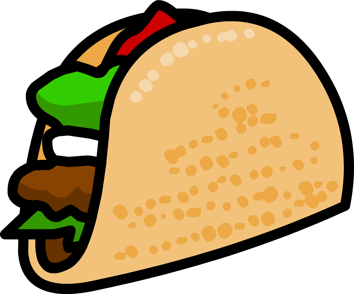 Clipart of the taco free image.