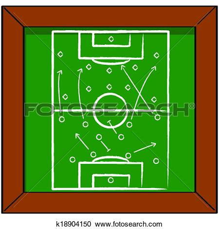 Clipart of Soccer tactics k18904150.