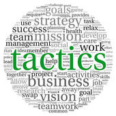 Clip Art of Business tactics in word tag cloud k10046722.