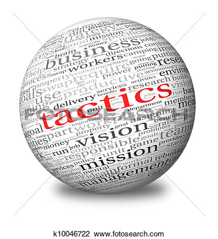 Stock Illustration of Business tactics in word tag cloud k10046717.