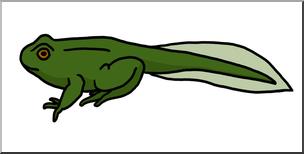 Clip Art: Tadpole with Legs Color I abcteach.com.