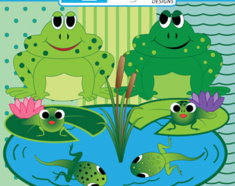 Frog And Tadpole Clip Art.