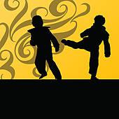 Korean Martial Arts Clip Art.