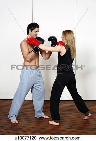 Stock Photography of Straight right.
