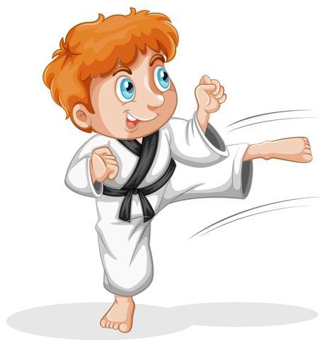 A vtaekwondo kid character.