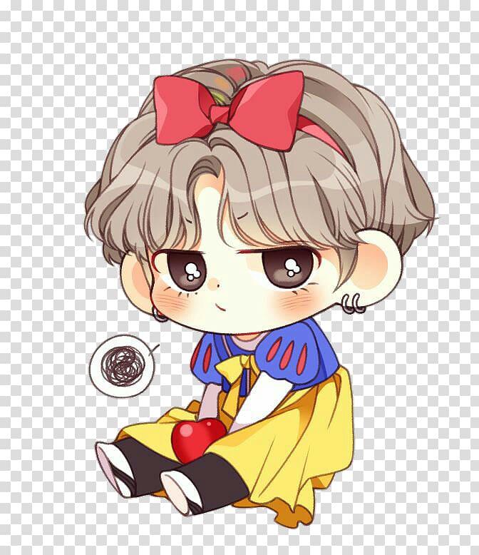 Girl cartoon , BTS Chibi Fan art Drawing K.