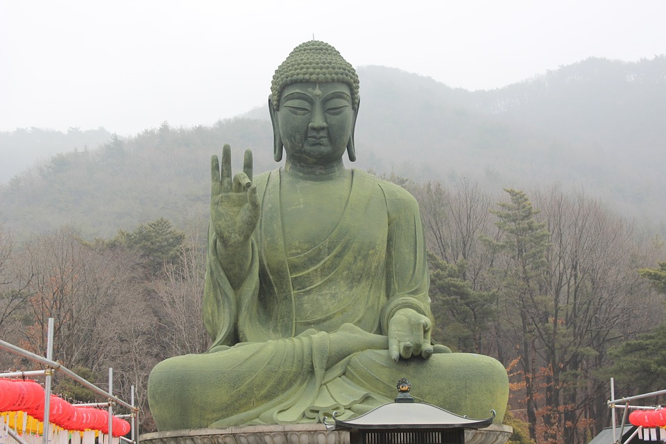 Free photo: Bronze Amitabha Statue, Cheonan.