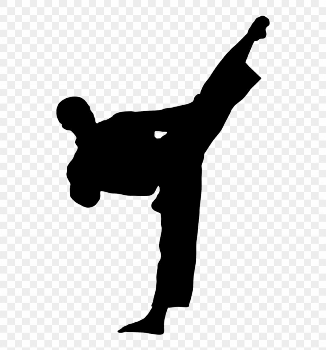 Jwribfree Kick Karate Clip Art Taekwondo Kick Silhouette.