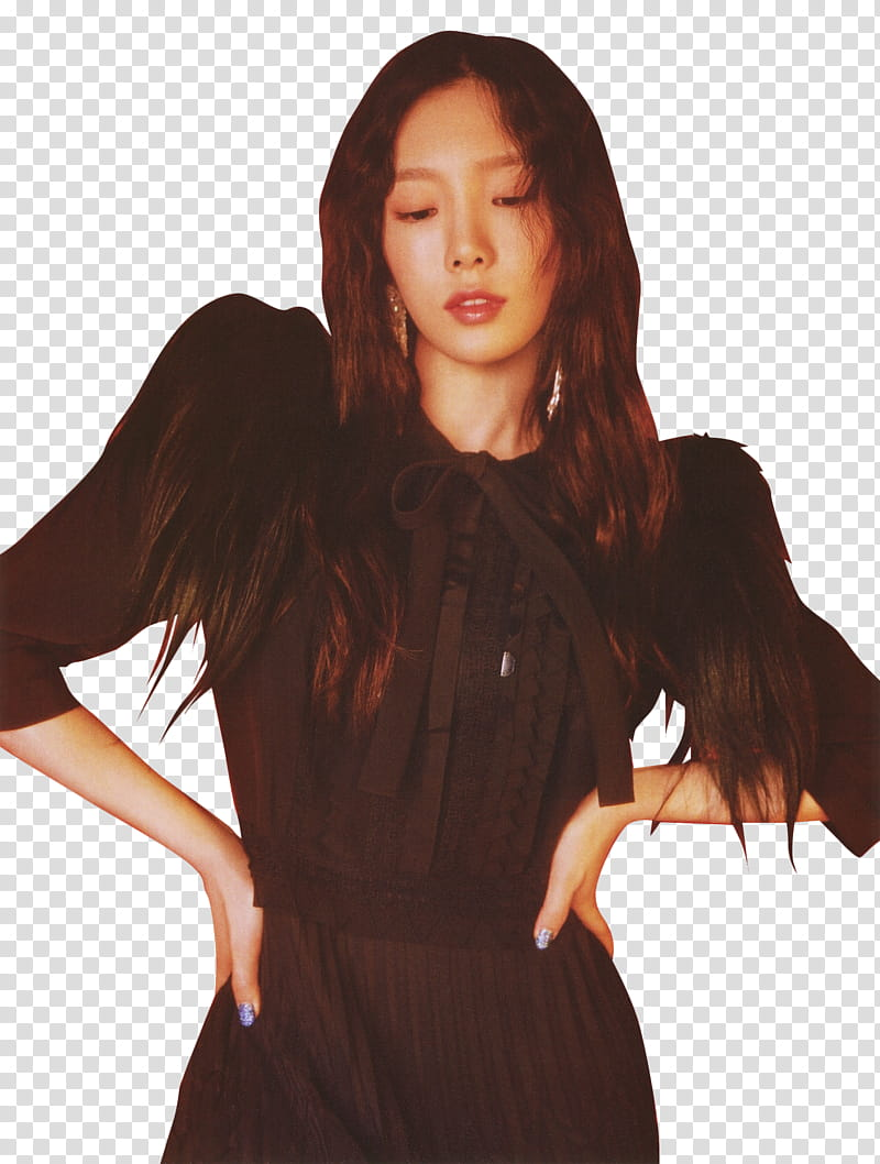 SNSD Taeyeon transparent background PNG clipart.