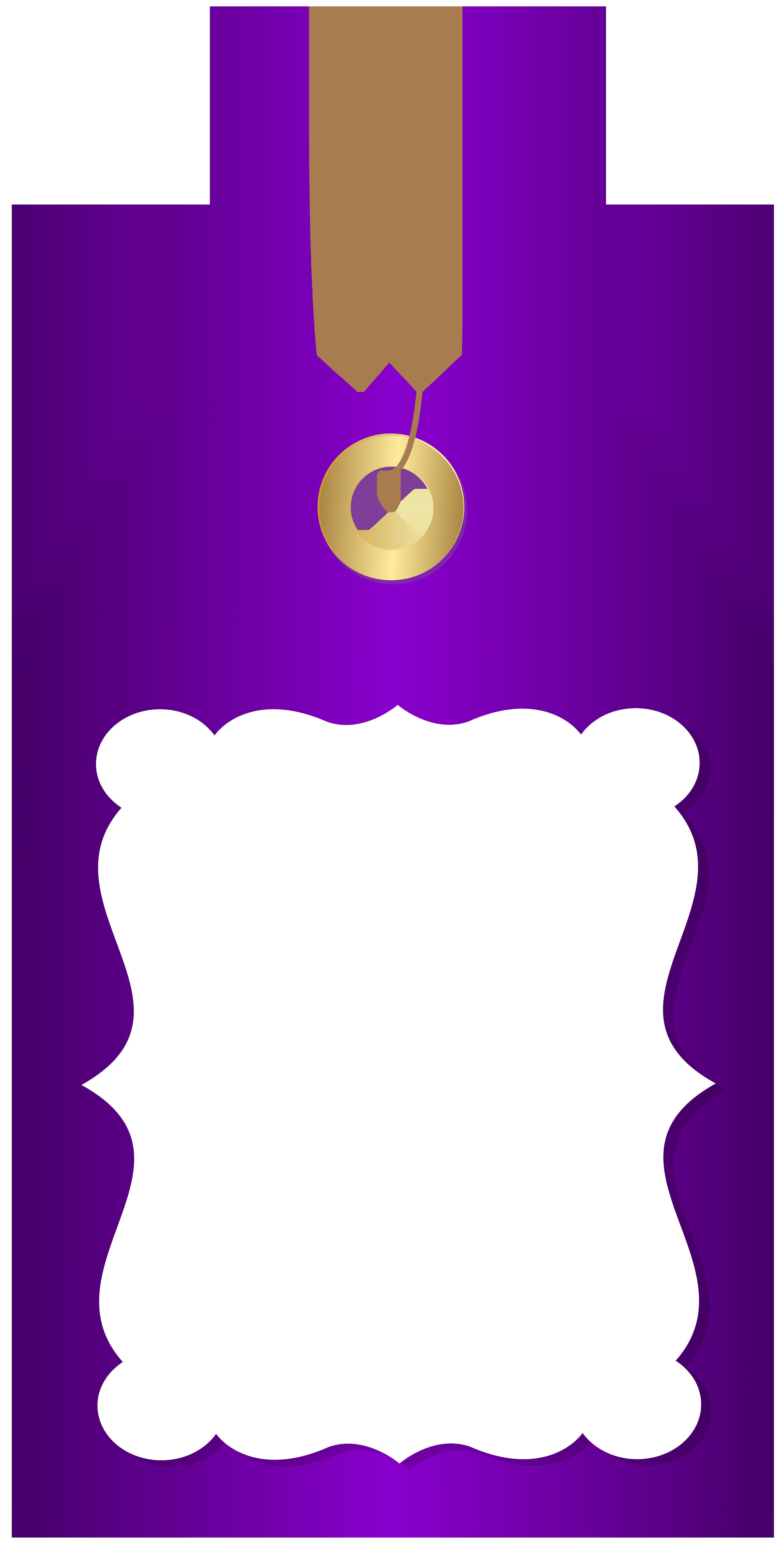 Purple Deco Price Tag PNG Clip Art Image.