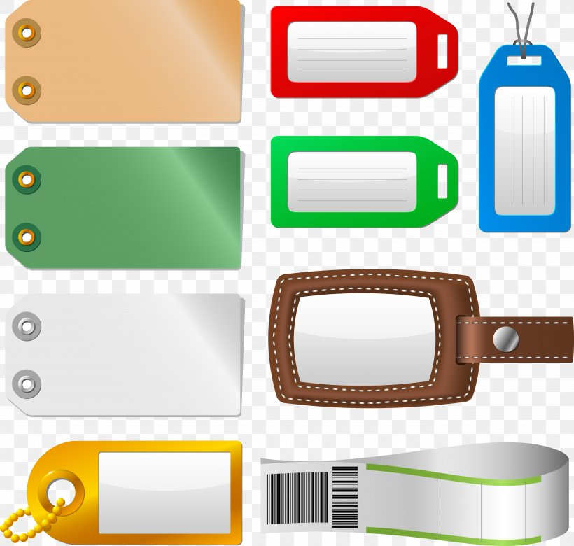 Bag Tag Label Baggage Sticker Clip Art, PNG, 5463x5202px.