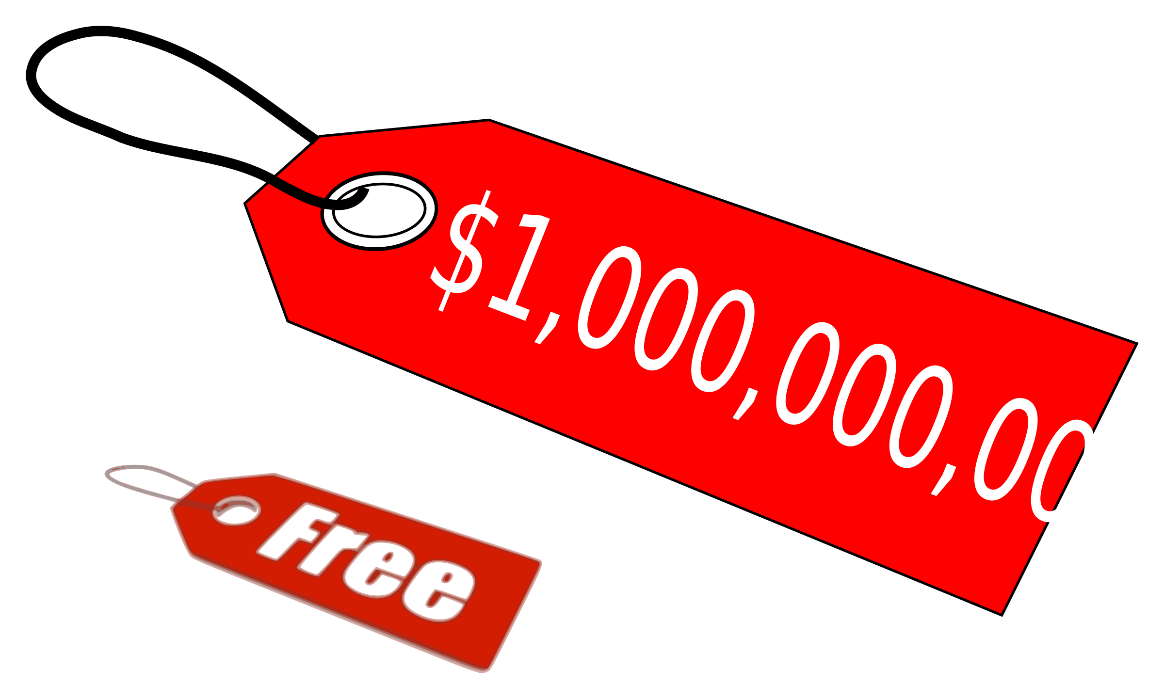 Million Dollar Price Tag Vector Clipart image.