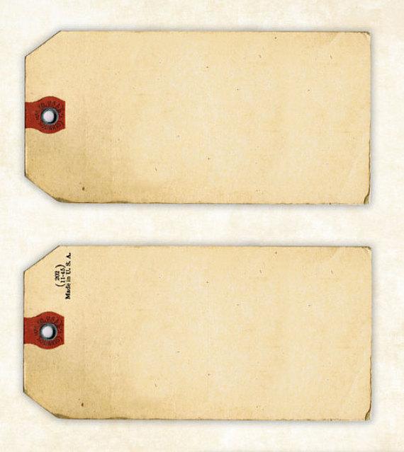 Vintage Tag Clipart.