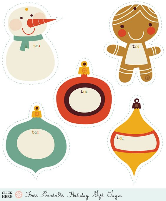Holiday Roundup: Awesome Free Gift Tag Printables.