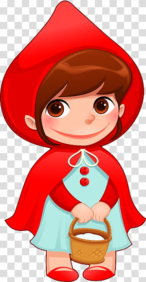 Red Riding Hood transparent background PNG cliparts free.