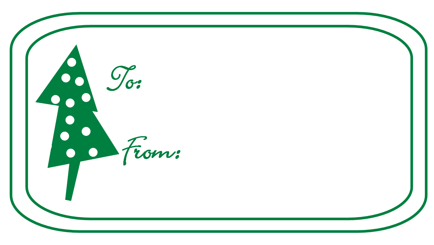 Christmas tree tagging clipart.