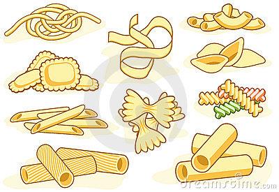 Pasta Stock Illustrations.