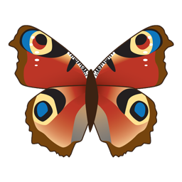Icon Set: 12 Schmetterlinge / 12 butterflies.