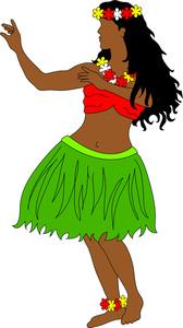 Tahiti Hula Girl Clipart.