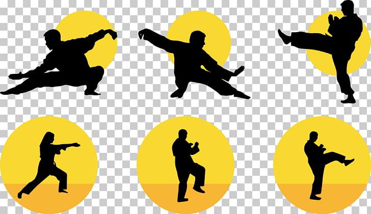 Silhouette Tai chi Martial arts , Taiji Silhouette PNG.