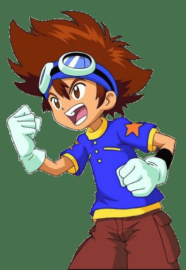 Digimon Character Tai Kamiya Fist Up transparent PNG.