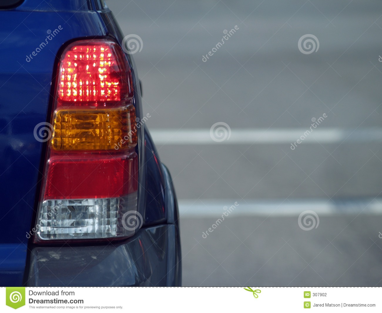 SUV Tail Light Stock Photography.