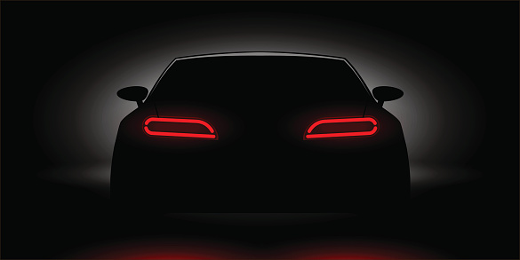 Car tail lights clipart.