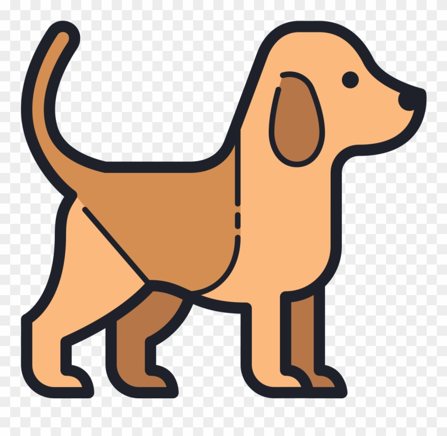 There Is A Side View Of A Dog Shape With A Short Tail.