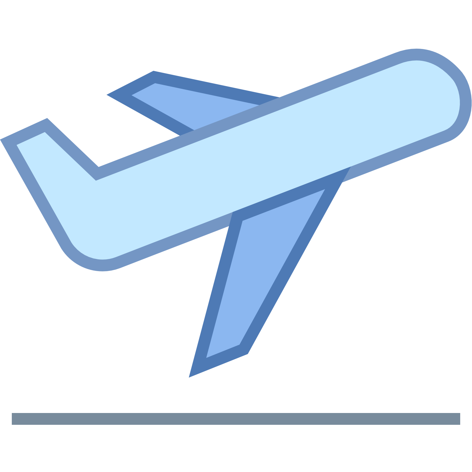 Airplane Take Off Icon.