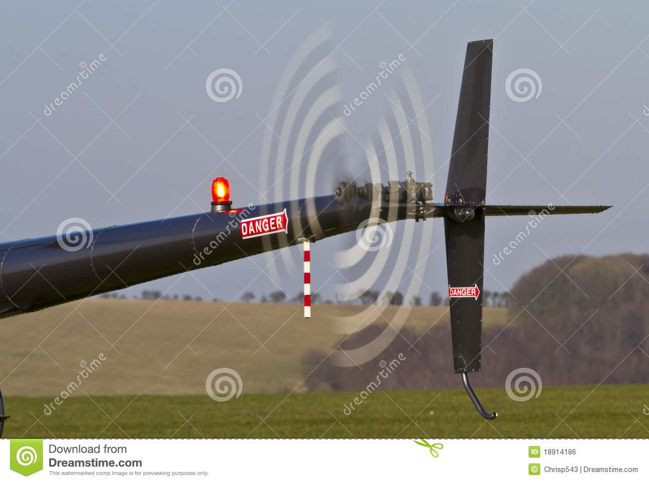 Helicopter Tail Rotor Stock Photos.