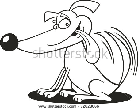 Dog Wagging Tail Stock Photos, Royalty.