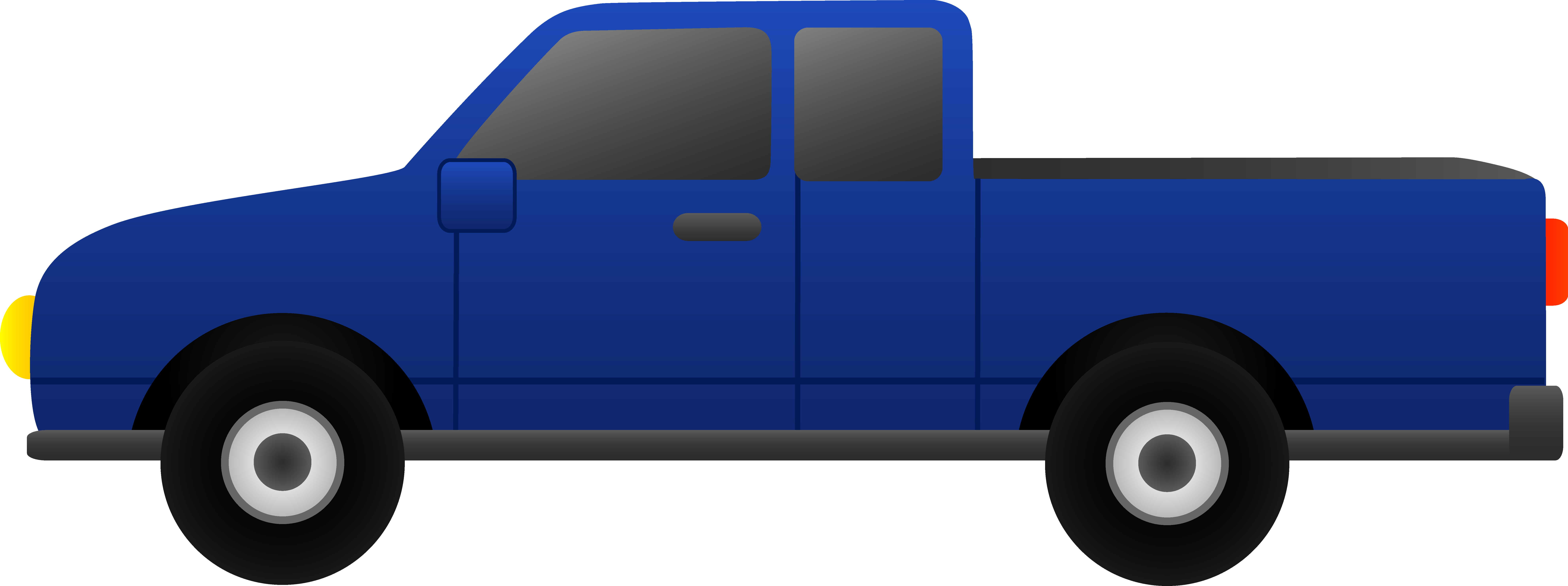 Back of pickup truck clipart.